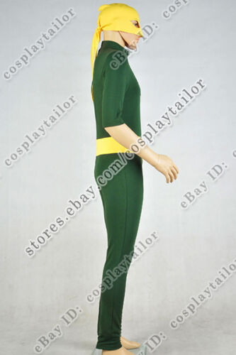 "Iron Fist Daniel /""Danny/"" Rand Cosplay Costume Green Jumpsuit Uniform Men Outfit"