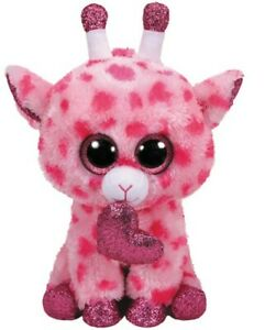 Capable Ty Gloubinours's Beanie Boo's Girafe @ Sweetums @ Avec Coeur T 24 Cm Saint Valentin-afficher Le Titre D'origine
