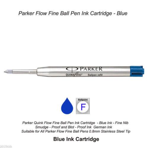 Parker Jotter Gold GT GOLD Body Ball Point Pen Blue Refill USA SELLER