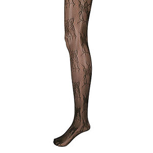 Energetic Adorox Black Floral Lace Net Lace Stockings Fishnet Tights One Size Fits All New Professional Design
