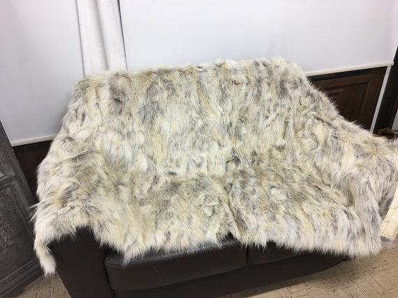 Coyote fourrure couverture/lancer confort douceur meilleur luxe Меховое одеяло Бросать уют | Structurels élégantes