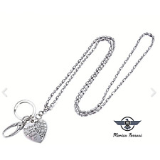 New ID Badge Holder Necklace Lanyard With Silver Roses Flowers #Z2013
