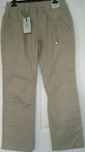 South-Cotton-Beige-Trousers-With-Hidden-Belt-New-With-Tags-Size-12-Leg-32in