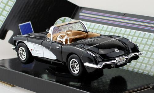 Chevy Chevrolet Corvette 1959 negro 1:24 motor max maqueta de coche 73216