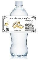 20 Wedding Water Bottle Labels Waterproof Glossy Party Favors