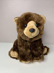 "Wild Republic Brown Bear Plush Soft Toy Stuffed 14"" Animal Grizzly Cuddlekins"
