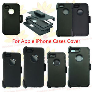 Black-for-Apple-iPhone-Case-Cover-w-Belt-Clip-fits-Otterbox-Defender-series