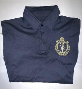 Billionaire-Couture-Men-039-s-Polo-Blue-Shirt-Short-Sleeve-Size-L-52-Large