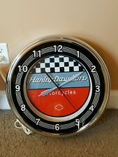 Harley Davidson 20 Inch Neon Wall Clock, HDL-10154  RARE COLLECTORS ITEM