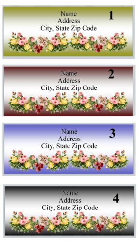Personalized Address labels Beautiful Roses Buy 3 get 1 free P 58 Pick design
