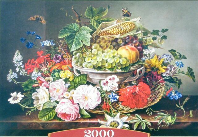 Brand New /& Sealed 1000 Pieces Jigsaw Puzzle Flowers /& Fruits