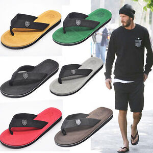 Image Is Loading Men 039 S Summer Beach Pool Flip Flops