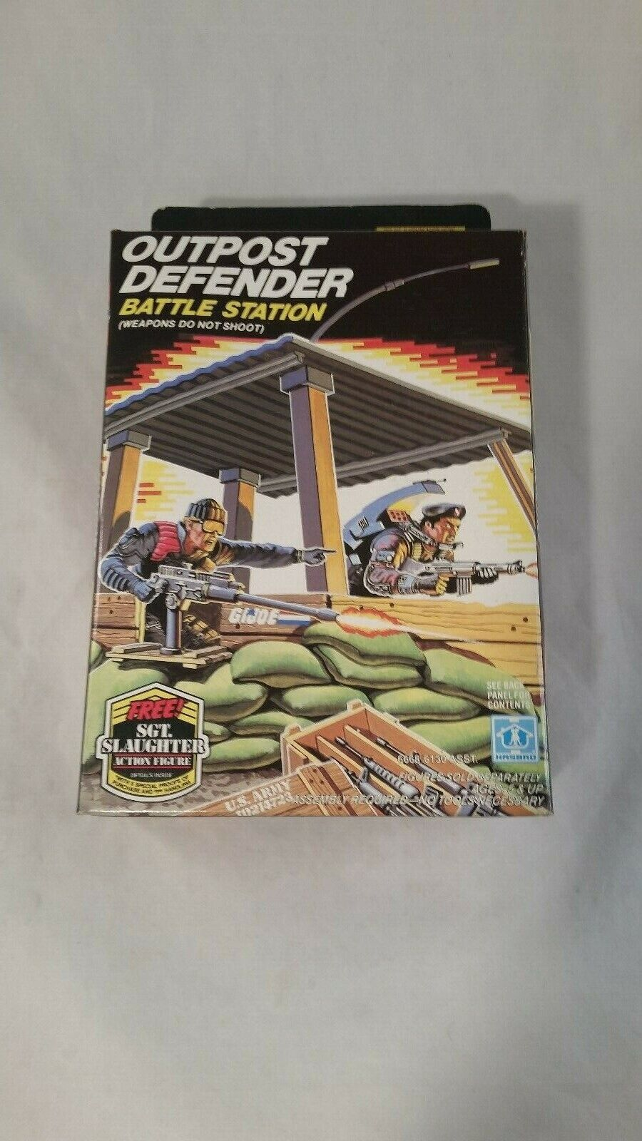ARAH Hasbro GI JOE Outpost Defender battle Station ORIGINAL In Box 1986