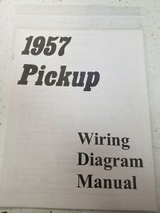 New 1957 Chevy Truck Wiring Diagram Manual *FREE SHIPPING ...