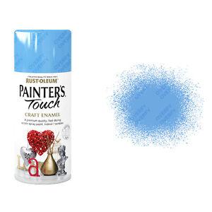 X48-Rust-Oleum-Maler-Touch-Craft-Lack-Spruehfarbe-Stiller-blau-glaenzend-150-ml