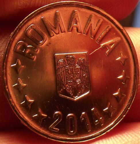 Gem Unc Romania 2014 50 Bani~Edge Incription~We Have Romanian Coins~Free Ship