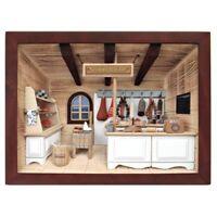 German 3d Wooden Shadow Box Picture Diorama Butchery Butcher Shop Metzger