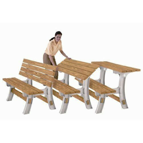 Buy Bench Table Flip Top Outdoor Picnic Patio Garden