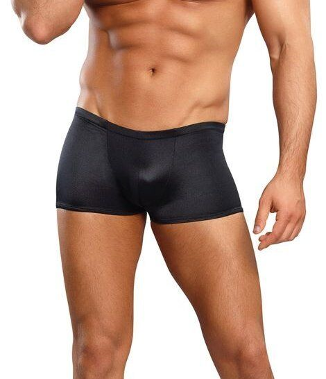 Buy Mens Underwear Male Power Satin Lycra Boxer Shorts Black Large online  76780b48f