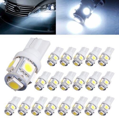 20X T10 5050 5SMD White LED Light Super Bright Car Interior Wedge Lamp 12V