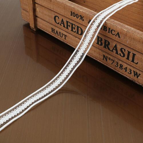 10yds 13mm Elastic Bands Lace Trim Underwear Dress Stretchy Ribbon DIY Supplies