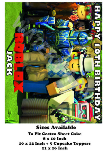 Up To 7.5Inches ROBLOX PERSONALISED FOOTBALL CAKE TOPPER EDIBLE