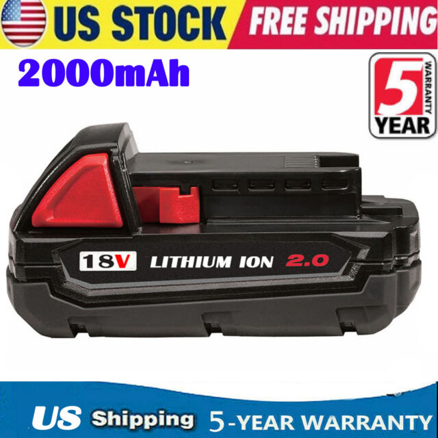 Milwaukee 2 Pack M18 RED LITHIUM ION XC 18 VOLT 5.0 Ah  Capacity 48-11-1850
