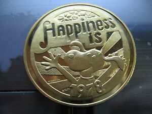 Happiness Is... 1978 Krewe of CHOCTAW Multi-Color Bronze Mardi Gras Doubloon