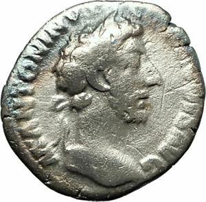 COMMODUS-177AD-Silver-Authentic-Ancient-Roman-Coin-Equality-Aequitas-i76524