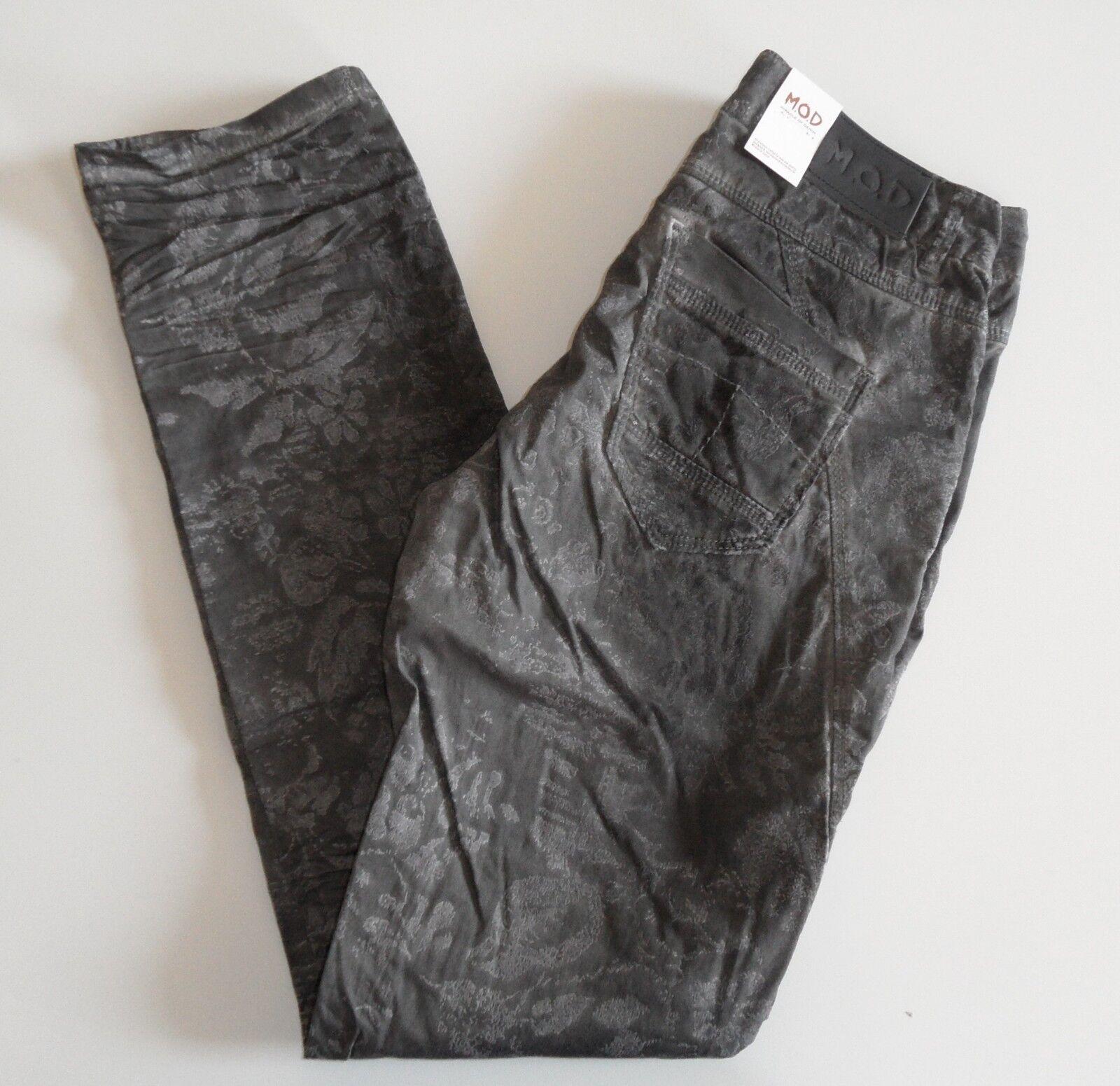 M.O.D Damen Jeans Rea Dark grau Flock NEU Größe 27 34 und 28 34