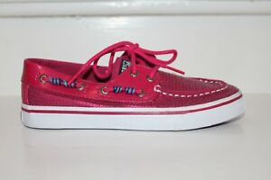Sperry-Top-Sider-Hot-Pink-Sequin-Girls-Boat-Shoes-2-3-Dress-MSRP-60-NEW