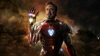 Avengers endgame Iron man last scene Tony Thanos Poster Silk 24 X 14 inches