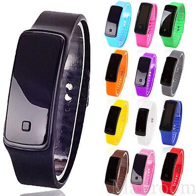 Men's Watch Women Digital LCD Pedometer Run LED Sportwatch Calorie Counter Watch