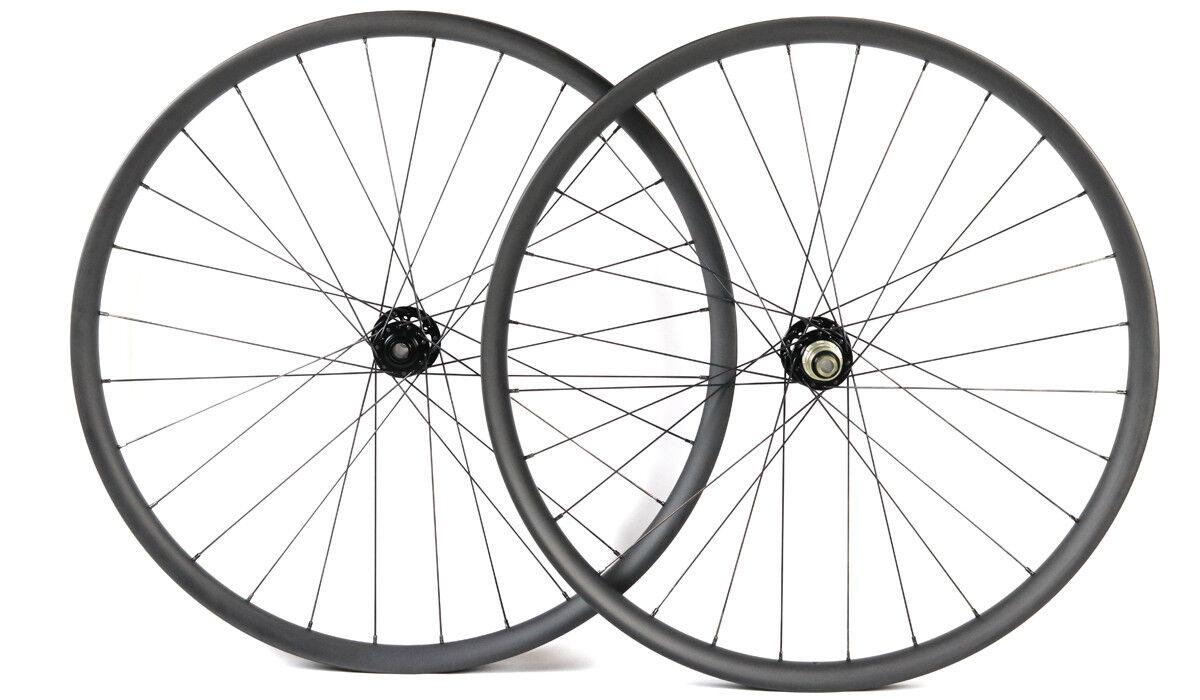 29ER carbon fiber bike wheelsets MTB wheels 35mm width thru axle Asymmetric rim