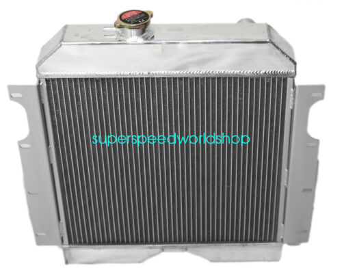"3 Core Performance Radiator+16/"" Fan fits 56-64 Jeep Truck Base 3.7L 3704CC"