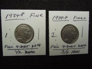 VERY FINE+ Condition,Sharp FULL Date /& FULL HORN VF+ 1937-D, Buffalo Nickel
