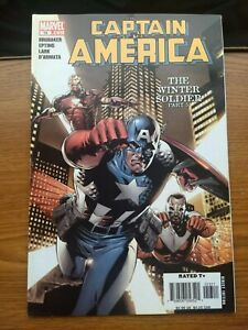 CAPTAIN AMERICA 13 MARVEL 2005 VF/NM 'WINTER SOLDIER P.5' BY BRUBAKER FALCON KEY