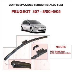 COPPIE TERGICRISTALLI AERO FLAT GOMMA PER PEUGEOT 307 CC 05/>09