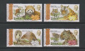 Tonga - 2016, FIPIC, Animals of India, Gandhi set - MNH - SG 1785/8