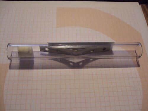 Ersatzbehälter,Entlötkolben Glasrohr Filter u Metallspirale 127mm inkl