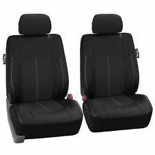 Faux Leather Premium Front Car Seat Covers For Car, Truck, SUV, 2 Pc Set - Black