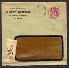 █ LR 1934 Enveloppe Commerciale ALBERT SIMPERE 16 avenue de l'Opéra PARIS 1er █