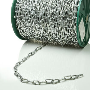 2mm STAHLKETTE verzinkt 1m 150m Rundstahlkette Eisenkette Kette kurzgliedrig