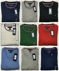 Tommy-Hilfiger-Men-s-Pullover-Sweater-Cashmere-Pima-Cotton-Long-Sleeve-Flag-NWT