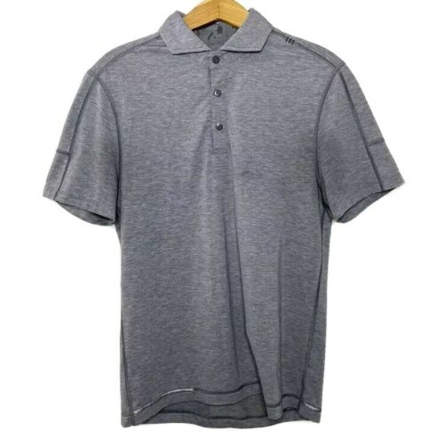 Lululemon Polo Shirt S Gray Short Sleeve 1/4 Butto