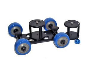Heavy-Duty-Video-DSLR-Dolly-High-Quality-Skater-Wheels-Adjustable-2xDolly-Stands