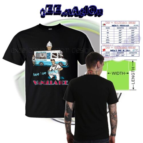 new VANILLA ICE *Ice Ice Baby* Rap Hip Hop Party Mens black RNB T-shirt S-4XLT