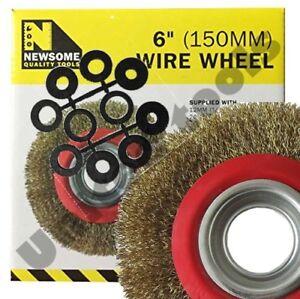 15-2cm-150mm-cable-fin-Brosse-roue-pour-touret-d-039-affutage-avec-10-pieces