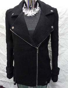 Womens-Ladies-New-Short-Thick-Winter-Wool-Blend-Black-Coat-Jacket-Sizes-8-14