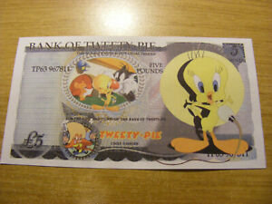 A Bank of Tweety Pie Novelty 5 Pounds note- very nice condition